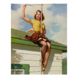 Vintage Retro Gil Elvgren Pin Up Girl Posters