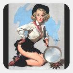 Vintage Retro Gil Elvgren Pin Up Girl Stickers