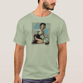 Vintage Retro Gil Elvgren Pin Up Girl T-Shirt