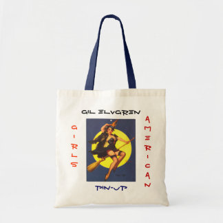 Vintage Retro Gil Elvgren Pin Up Girl Tote Bag