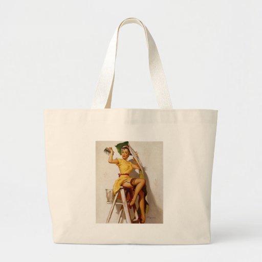 Vintage Retro Gil Elvgren Pin Up Girls Canvas Bag