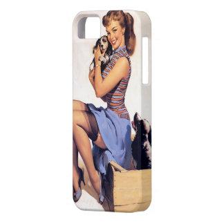 Vintage Retro Gil Elvgren Puppy Love Pin UP Girl iPhone SE/5/5s Case