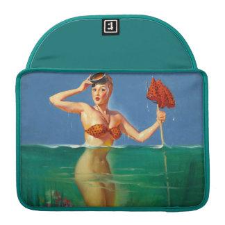 Vintage Retro Gil Elvgren Scuba Diver Pin Up Girl MacBook Pro Sleeves