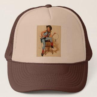 Vintage Retro Gil Elvgren Sheriff Pin Up Girl Trucker Hat