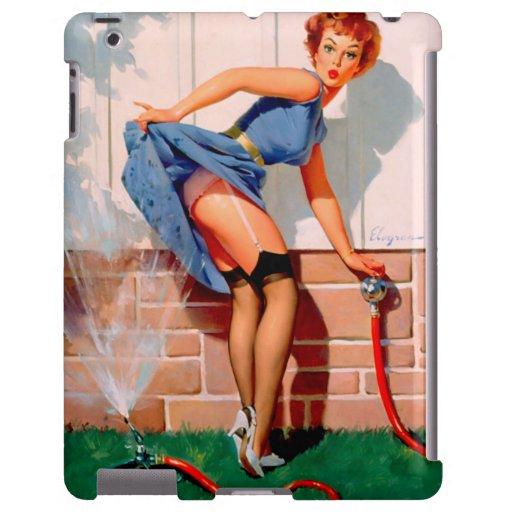 Vintage Retro Gil Elvgren Sprinkler Pin Up Girl