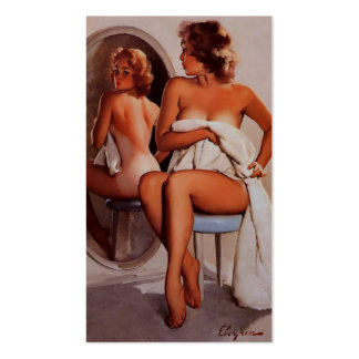 Vintage Retro Gil Elvgren Sun Tan Pinup girl Double-Sided Standard Business Cards (Pack Of 100)