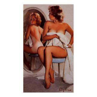 Vintage Retro Gil Elvgren Sun Tan Pinup girl Business Card