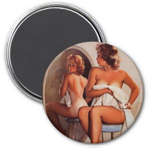 Vintage Retro Gil Elvgren Sun Tan Pinup girl Magnets