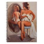 Vintage Retro Gil Elvgren Sun Tan Pinup girl Spiral Note Book