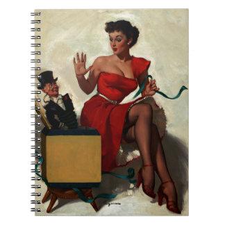 Vintage Retro Gil Elvgren Surprise  Pin Up Girl Notebook