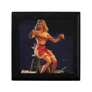 Vintage Retro Gil Elvgren Taffy maker Pinup girl Gift Boxes