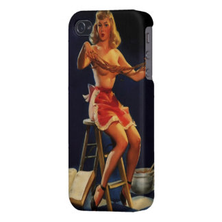 Vintage Retro Gil Elvgren Taffy maker Pinup girl iPhone 4/4S Covers