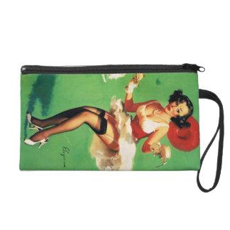 Vintage Retro Gil Elvgren Tea Time Pinup Girl Wristlet Purses