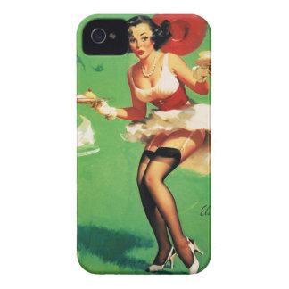 Vintage Retro Gil Elvgren Tea Time Pinup Girl iPhone 4 Case