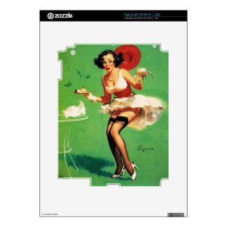 Vintage Retro Gil Elvgren Tea Time Pinup Girl Decals For The iPad 2