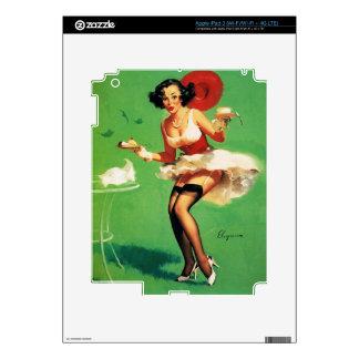 Vintage Retro Gil Elvgren Tea Time Pinup Girl iPad 3 Skin