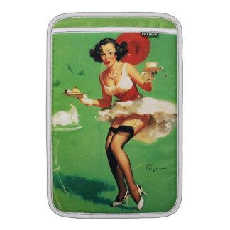 Vintage Retro Gil Elvgren Tea Time Pinup Girl MacBook Air Sleeves