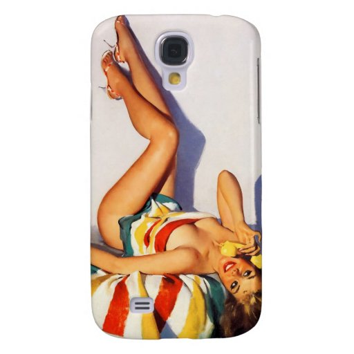 Vintage Retro Gil Elvgren telephone pin up Girl Galaxy S4 Covers