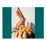 Vintage Retro Gil Elvgren telephone pin up Girl Post Cards