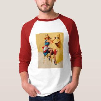 Vintage Retro Gil Elvgren telephone pin up Girl T-Shirt