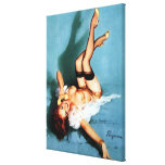 Vintage Retro Gil Elvgren Telephone Pinup girl Gallery Wrapped Canvas
