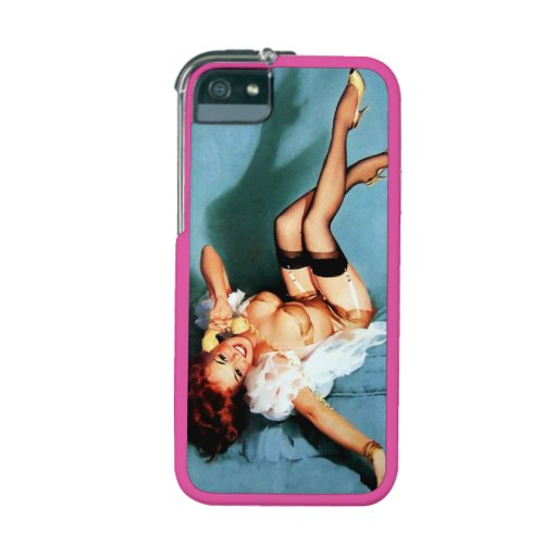 Vintage Retro Gil Elvgren Telephone Pinup girl iPhone 5 Cover