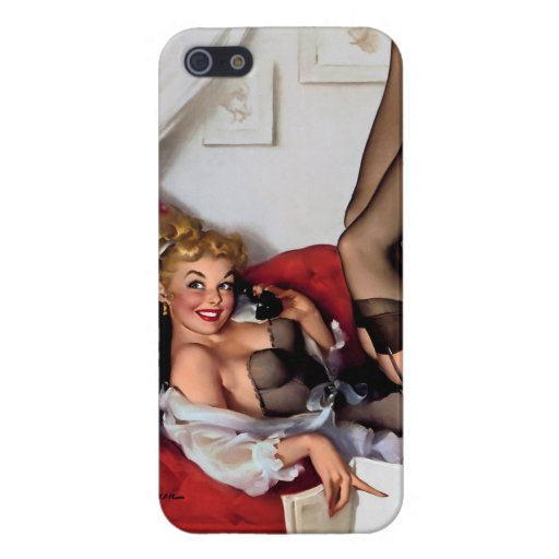 Vintage Retro Gil Elvgren Telephone Pinup girl Case For iPhone 5
