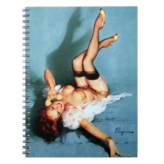 Vintage Retro Gil Elvgren Telephone Pinup girl Notebook