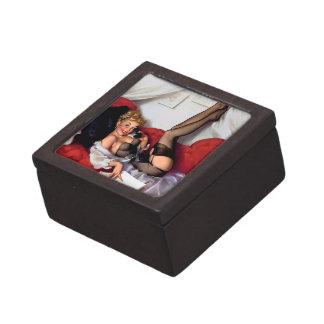 Vintage Retro Gil Elvgren Telephone Pinup girl Premium Gift Boxes