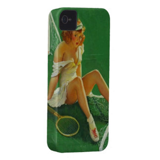 Vintage Retro Gil Elvgren Tennis Pinup Girl Case-Mate iPhone 4 Cases