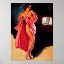 GIL ELVGREN Retro Pin Up Girl Posters15 to choose fromFramed or Unframed