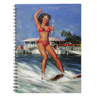 Vintage Retro Gil Elvgren Water Ski pinup girl Notebook