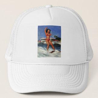 Vintage Retro Gil Elvgren Water Ski pinup girl Trucker Hat