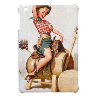 Vintage Retro Gil Elvgren Western Rodeo Pinup Girl Case For The iPad Mini