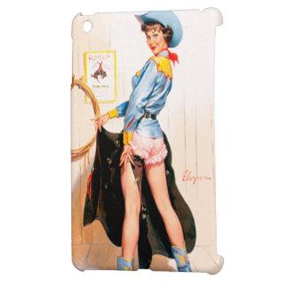 Vintage Retro Gil Elvgren Western Rodeo Pinup Girl iPad Mini Covers