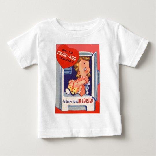 Vintage Retro Girl In Fridge Valentine Card Baby T-Shirt