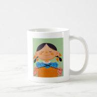 Vintage Retro Girl Knitting Coffee Mugs
