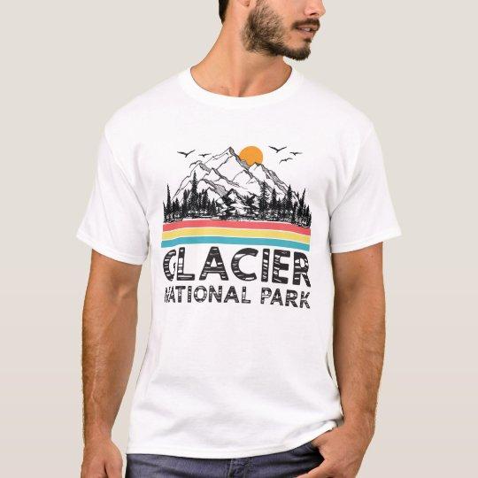 Vintage Retro Glacier National Park Montana Gifts T-Shirt