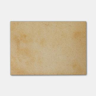 Vintage Retro Gold Brown Paper Parchment Post-it® Notes