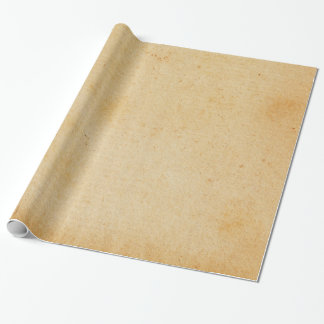 Vintage Retro Gold Brown Paper Parchment Wrapping Paper