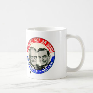 Vintage Retro Goldwater Miller Election Button Coffee Mug