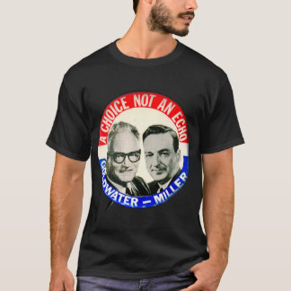 Vintage Retro Goldwater Miller Election Button T-Shirt