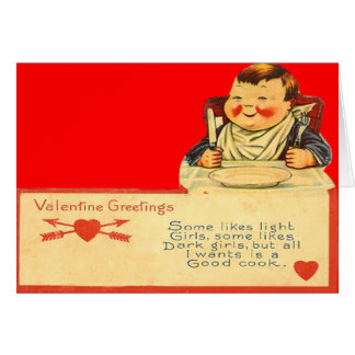 Vintage Retro Good Cook Valentine Card