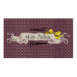 vintage retro hairstylist purple bow girly sweet Double-Sided standard business cards (Pack of 100)