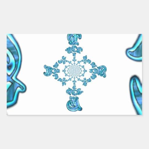 Vintage retro Hakuna Matata Gift.png azul de la Pegatina Rectangular