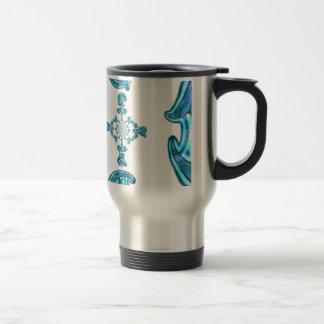 Vintage retro Hakuna Matata Gift.png azul de la Taza De Viaje