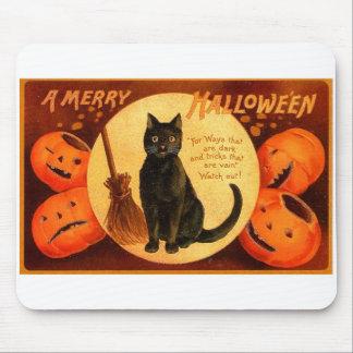 Vintage retro Halloween al feliz Halloween Alfombrilla De Ratones