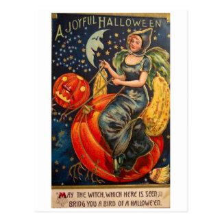 Vintage retro Halloween Halloween alegre Postal