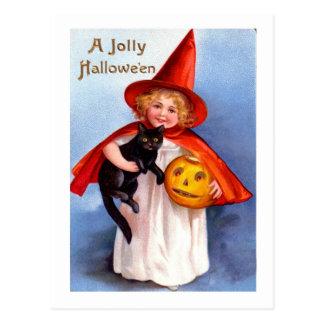 Vintage retro Halloween Halloween alegre Postales
