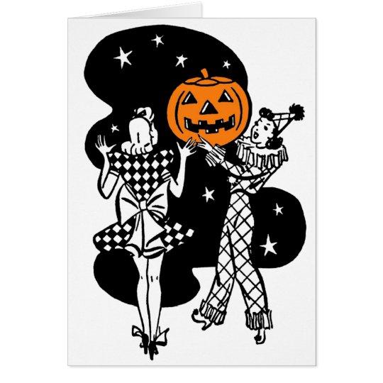 Vintage Retro Halloween Pumpkin Card